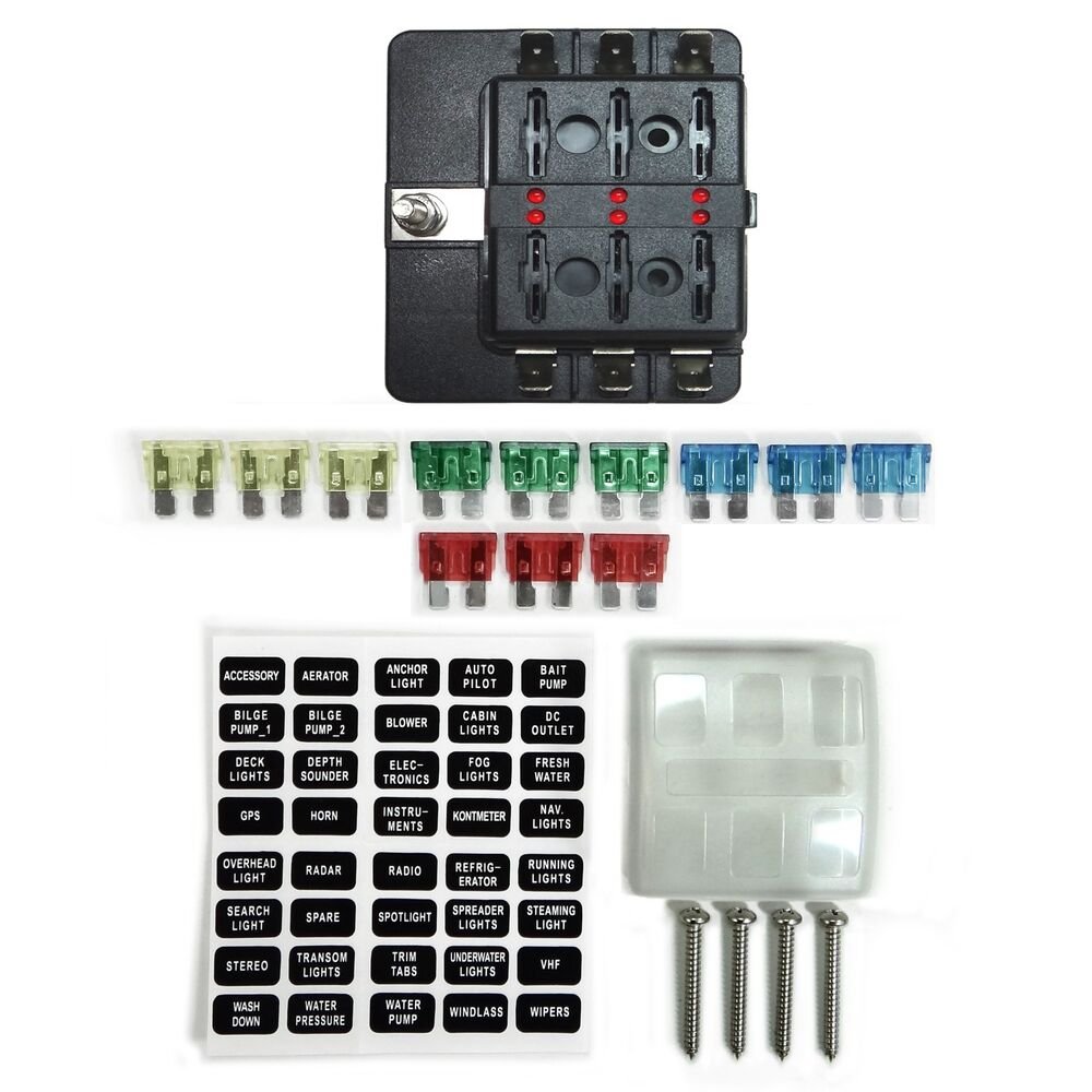 hight resolution of details about 6 way 12v blade fuse box distribution block with led indicators hot rod race car