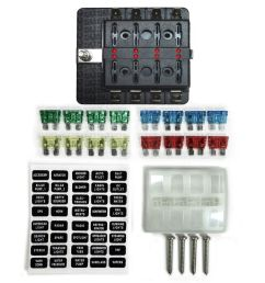 details about 8 way 12v blade fuse box distribution block with led indicators hot rod race car [ 1000 x 1000 Pixel ]
