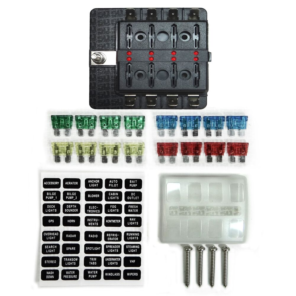 hight resolution of details about 8 way 12v blade fuse box distribution block with led indicators hot rod race car