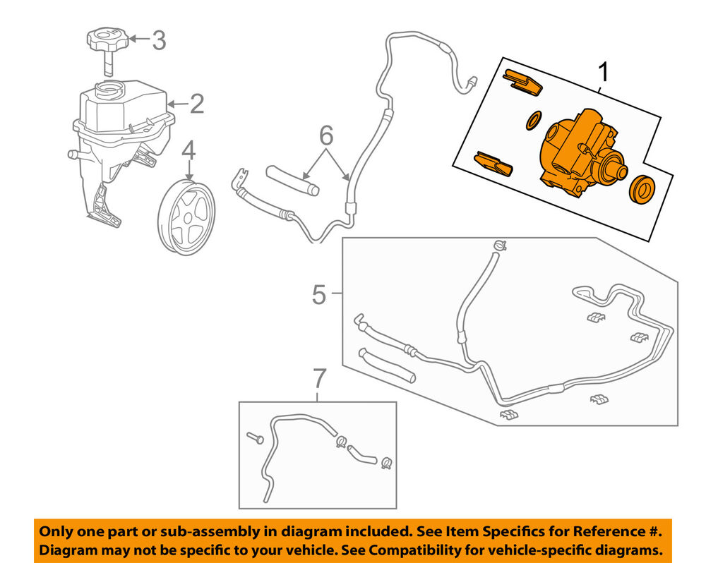 hight resolution of details about gm oem power steering pump 15267584