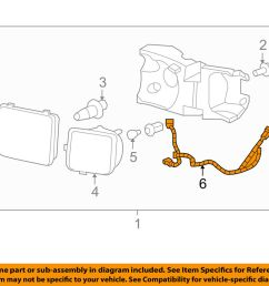details about hummer gm oem 06 10 h3 headlamp front lamps wire harness 15834716 [ 1000 x 798 Pixel ]