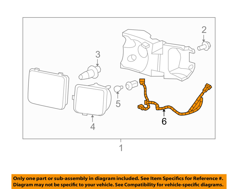 hight resolution of details about hummer gm oem 06 10 h3 headlamp front lamps wire harness 15834716