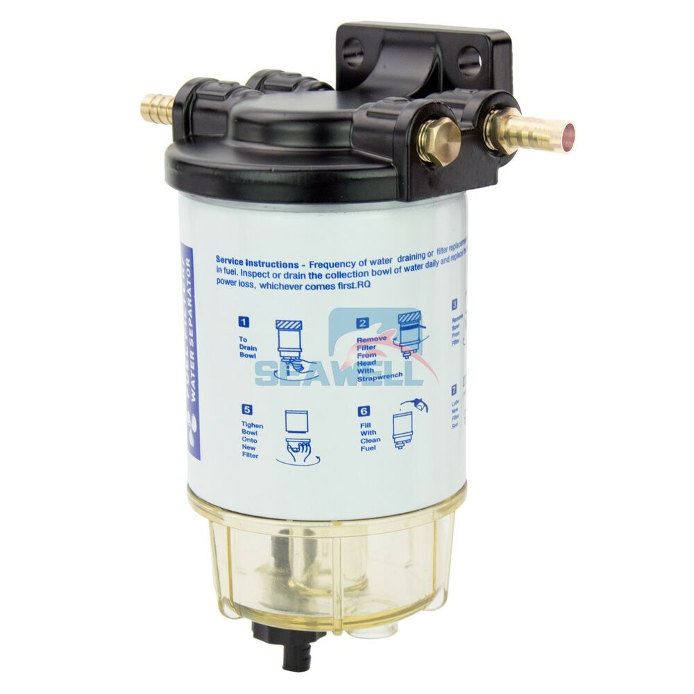medium resolution of boat fuel filter marine fuel water separator mercury yamaha outboard 10 micron ebay