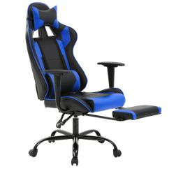 Office Chair Lumbar Support Job Lot Folding Wooden Chairs New Gaming Racing Style High Back Details About And Headrest