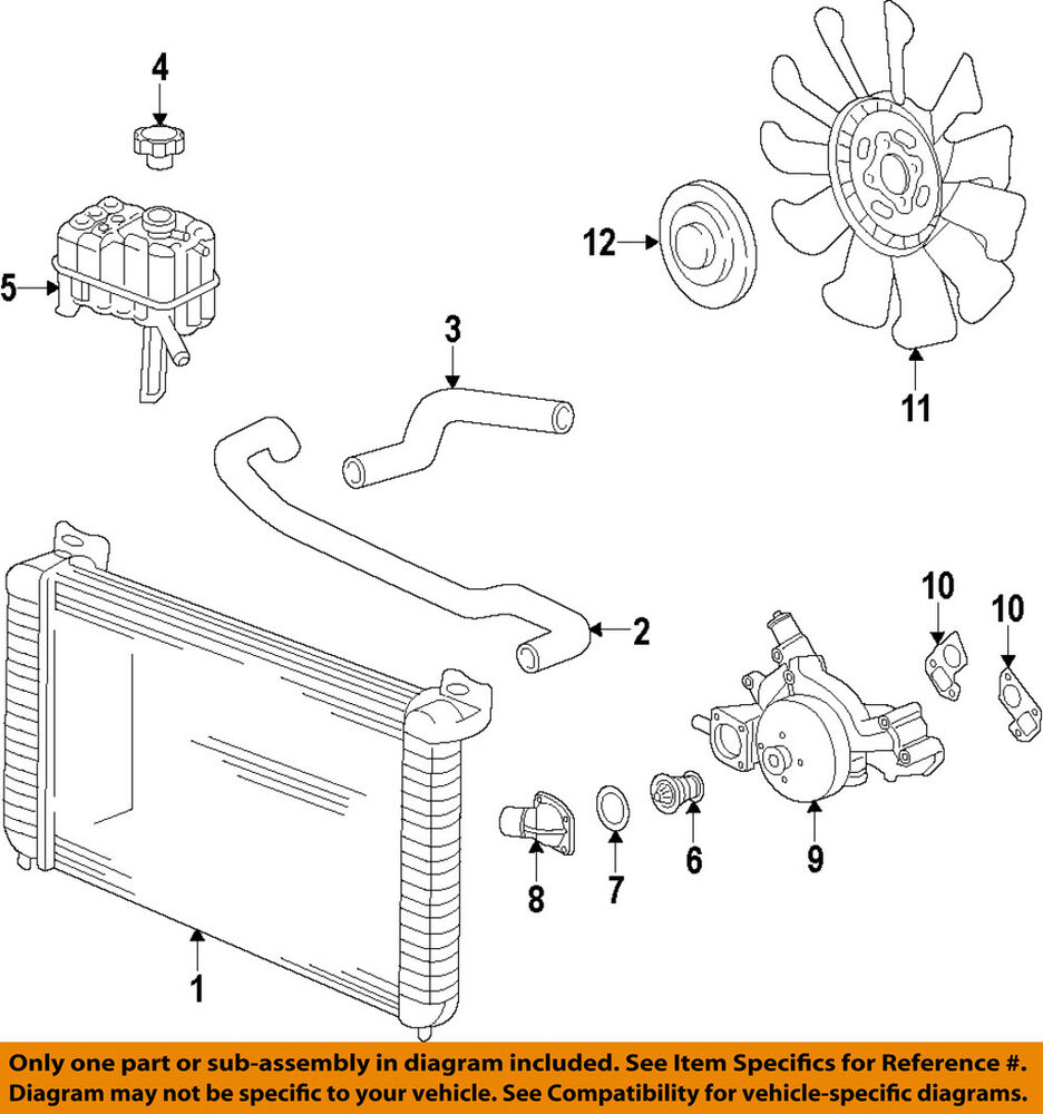 medium resolution of details about gm oem engine cooling fan clutch 84144840
