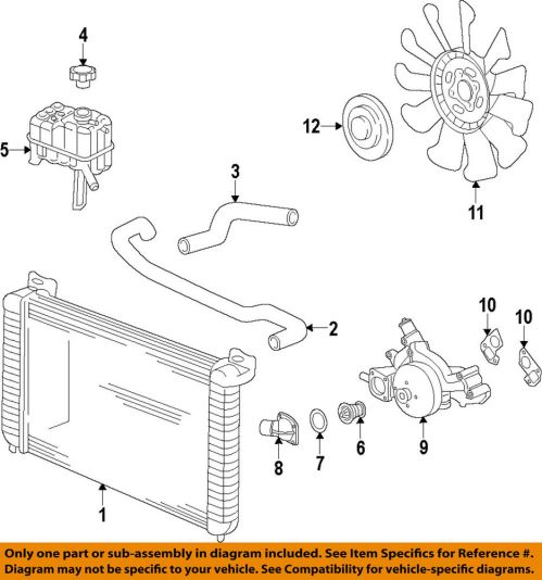 small resolution of details about gm oem engine cooling fan clutch 84144840