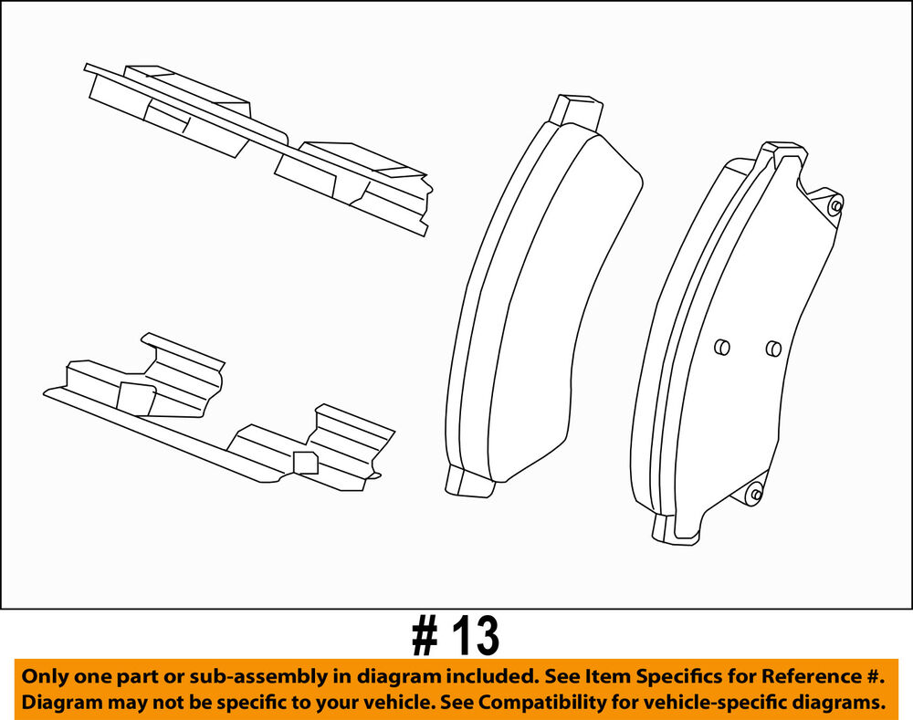 medium resolution of details about chevrolet gm oem 12 17 sonic brake front pads 42570931