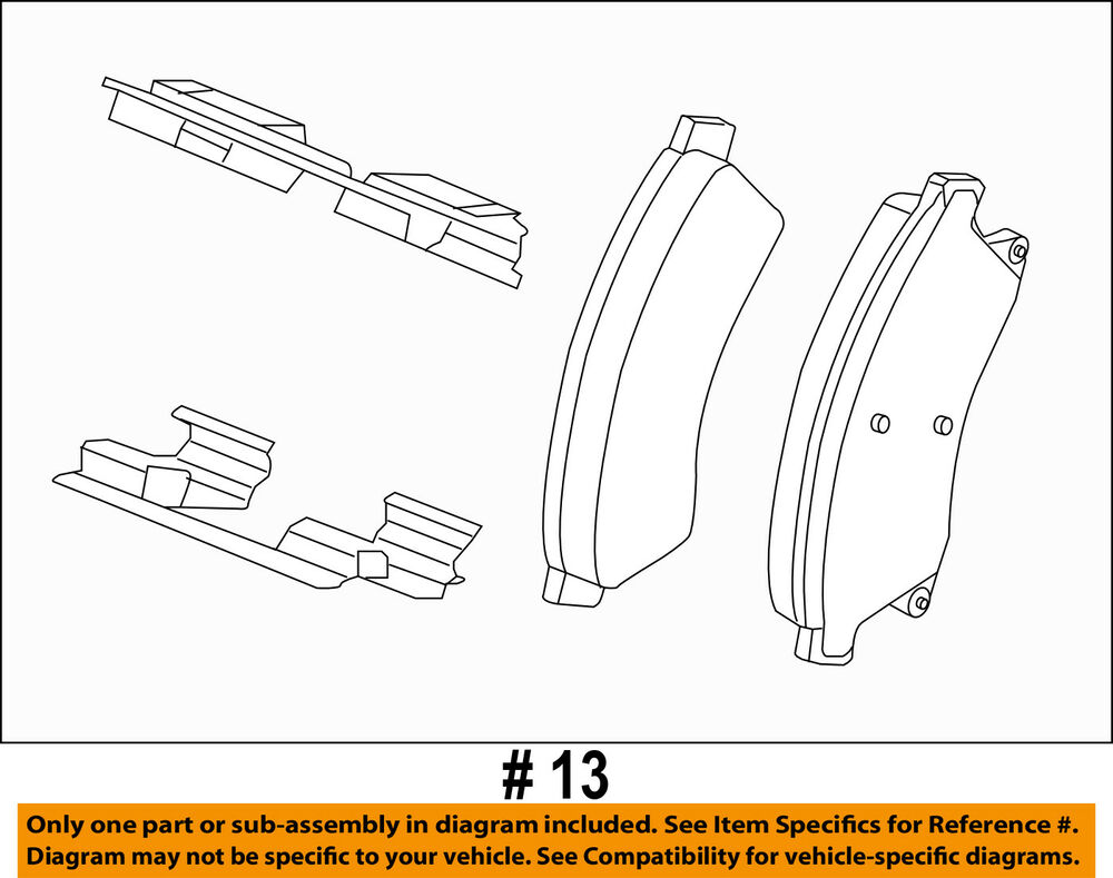 hight resolution of details about chevrolet gm oem 12 17 sonic brake front pads 42570931