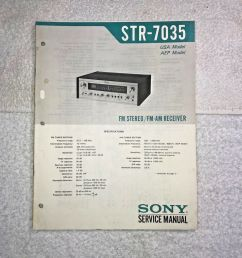 details about sony str 7035 fm stereo fm am receiver with circuit diagram q008 [ 1000 x 1000 Pixel ]