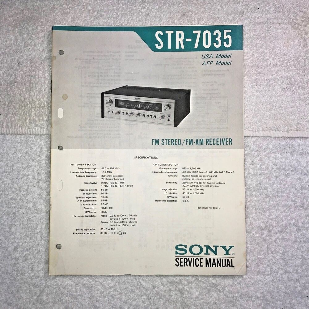 hight resolution of details about sony str 7035 fm stereo fm am receiver with circuit diagram q008