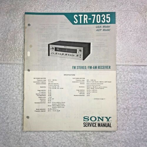 small resolution of details about sony str 7035 fm stereo fm am receiver with circuit diagram q008