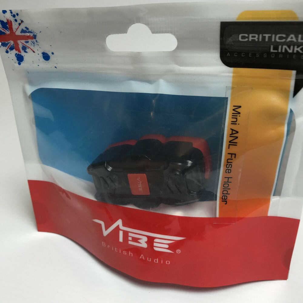 hight resolution of details about vibe critical link mini anl fuse holder clmanlf v7 100 amp car audio new