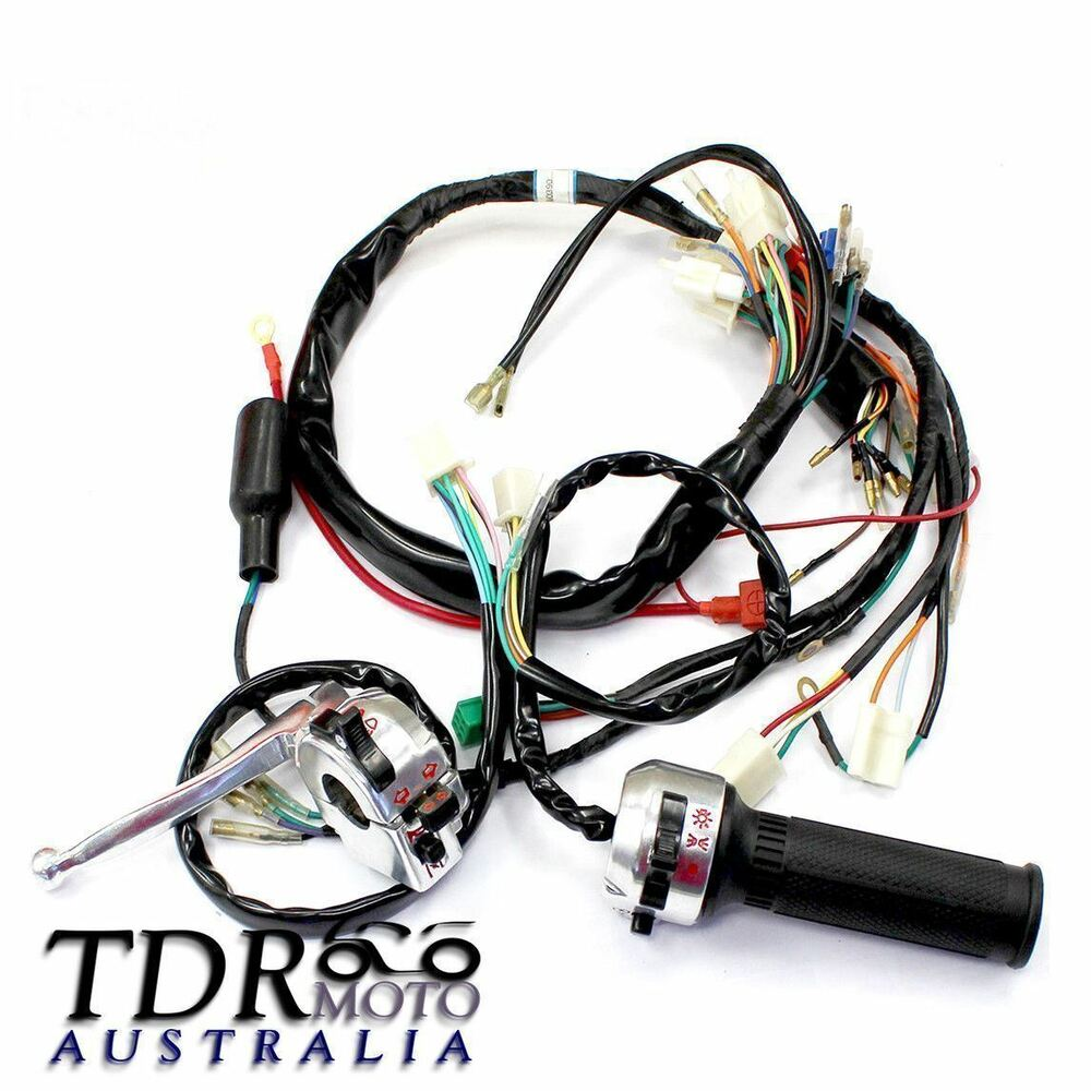 hight resolution of wire harness loom control r l switch for honda z50 pit mini bike vintage monkey ebay