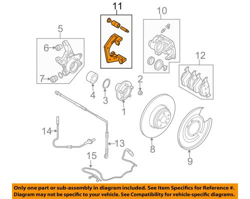 small resolution of details about land rover oem 06 09 range rover disc brake caliper bracket sxp500060