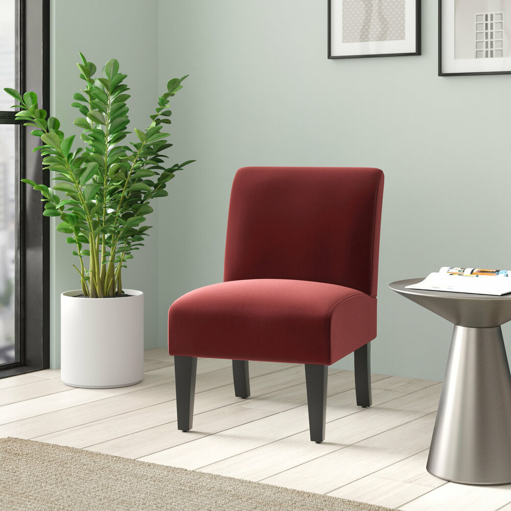 Classic Armless Accent Slipper Chair Upholstered Living