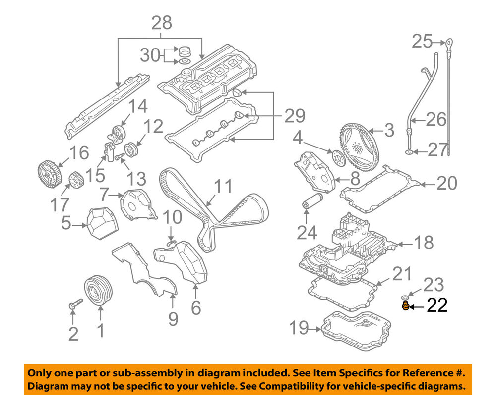 hight resolution of details about audi oem 04 09 s4 engine parts drain plug 028103059a