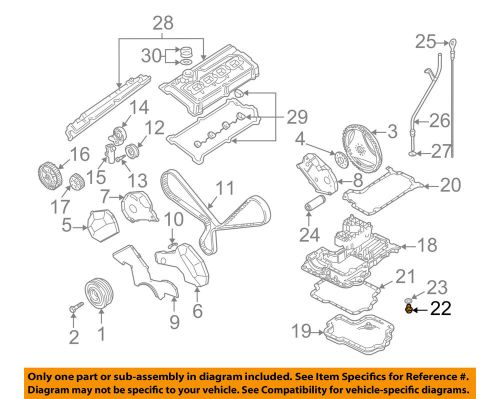 small resolution of details about audi oem 04 09 s4 engine parts drain plug 028103059a