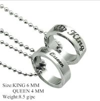 His and Hers Stainless Steel Queen Crown Couple Ring Women ...