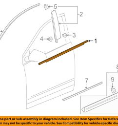details about cadillac gm oem xt5 door window sweep belt molding weatherstrip left 84175956 [ 1000 x 798 Pixel ]
