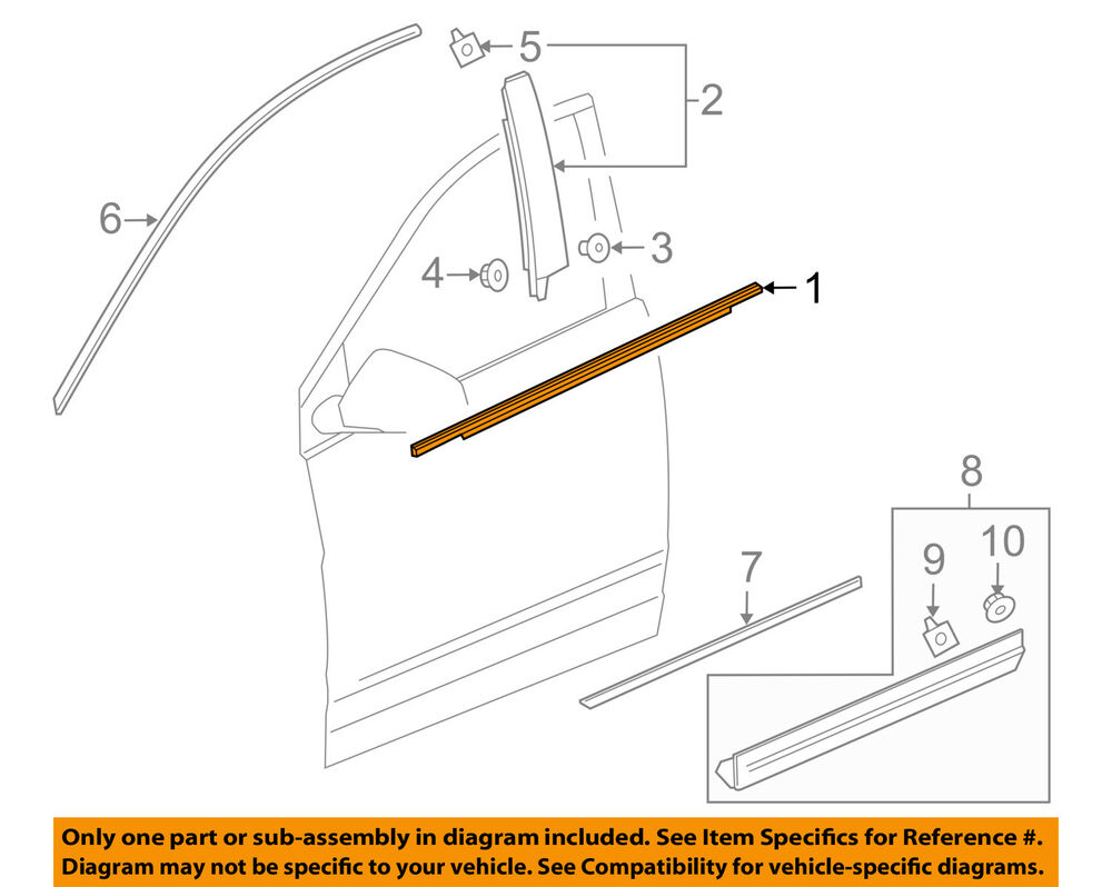 hight resolution of details about cadillac gm oem xt5 door window sweep belt molding weatherstrip left 84175956