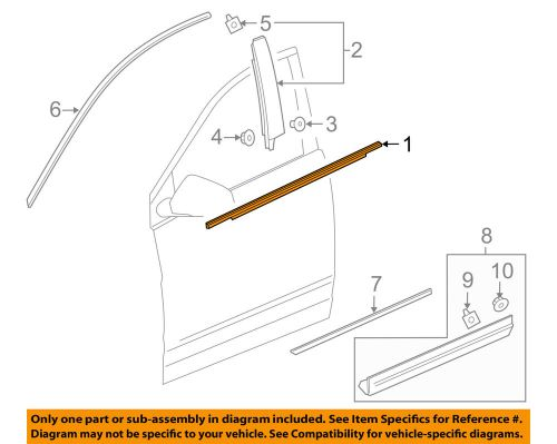 small resolution of details about cadillac gm oem xt5 door window sweep belt molding weatherstrip left 84175956