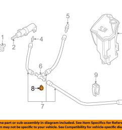 details about bmw oem 01 05 325i washer headlight head light hose clamp 16131179065 [ 1000 x 798 Pixel ]