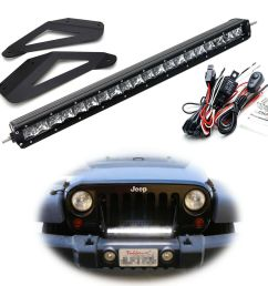 details about behind upper grill 20 led light bar w bracket wiring for 2007 17 jeep wrangler [ 1000 x 1000 Pixel ]