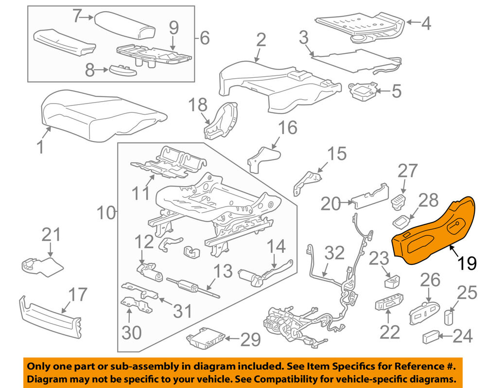 hight resolution of details about cadillac gm oem 10 16 srx driver seat outer finish panel 20887470