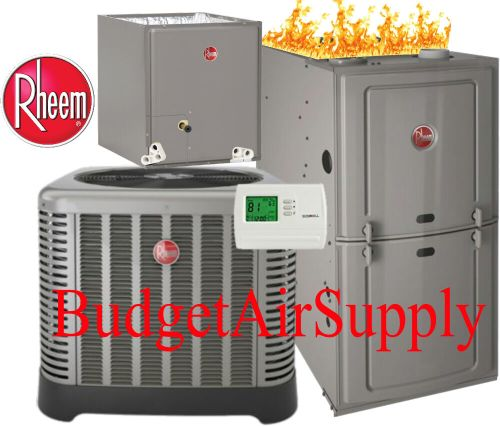 small resolution of details about 2 5 ton 14 seer rheem ruud 80 75k btu gas furnace system ra1430a r801sa075417ms