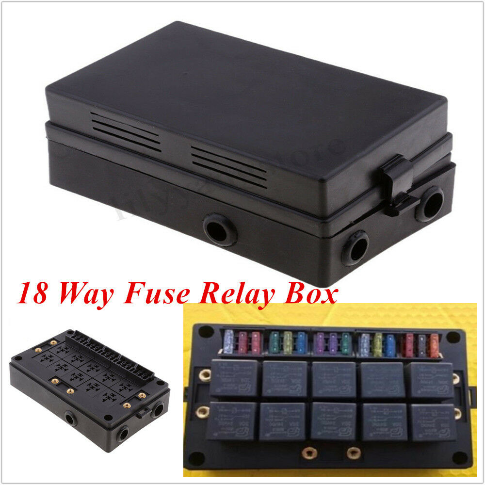 hight resolution of details about automotive marine 18 way blade fuse holder 10 way relay socket box protector