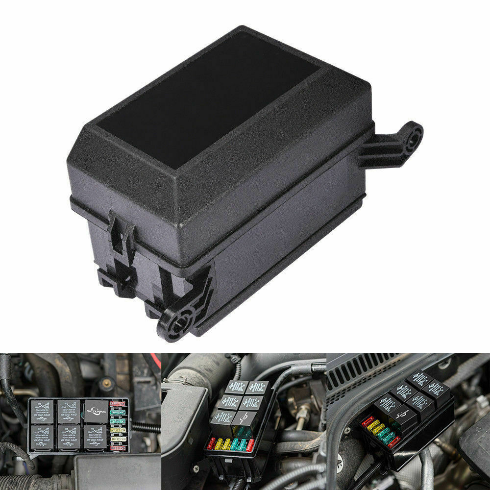 hight resolution of universal 6 way blade fuse box boat bus car 12v automotive holder universal fuse box with relay universal fuse box