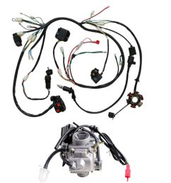 details about gy6 125cc 150cc carburetor wiring harness for moped scooter go kart atv roketa [ 1000 x 1000 Pixel ]