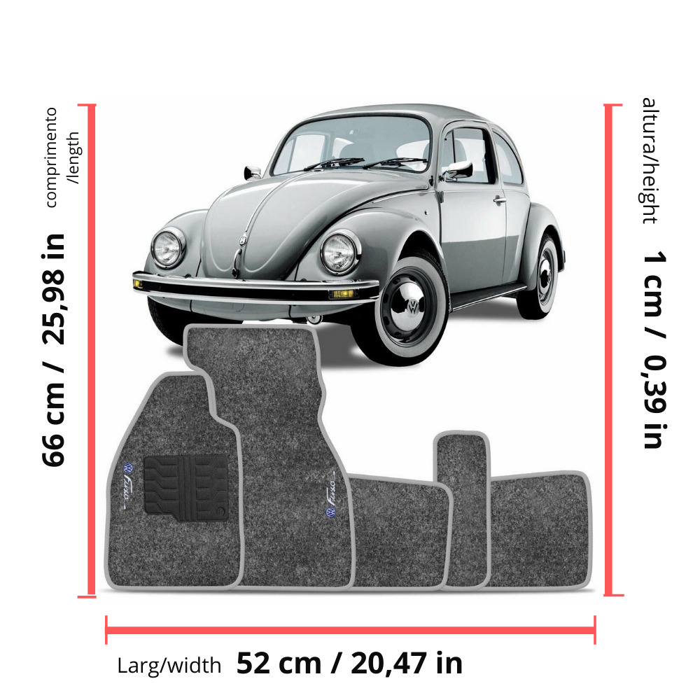 medium resolution of details about vw old bug beetle interior carpet floor mat logo gray set classic 1950 1978 rhd