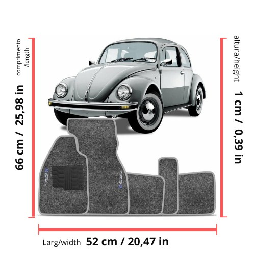 small resolution of details about vw old bug beetle interior carpet floor mat logo gray set classic 1950 1978 rhd