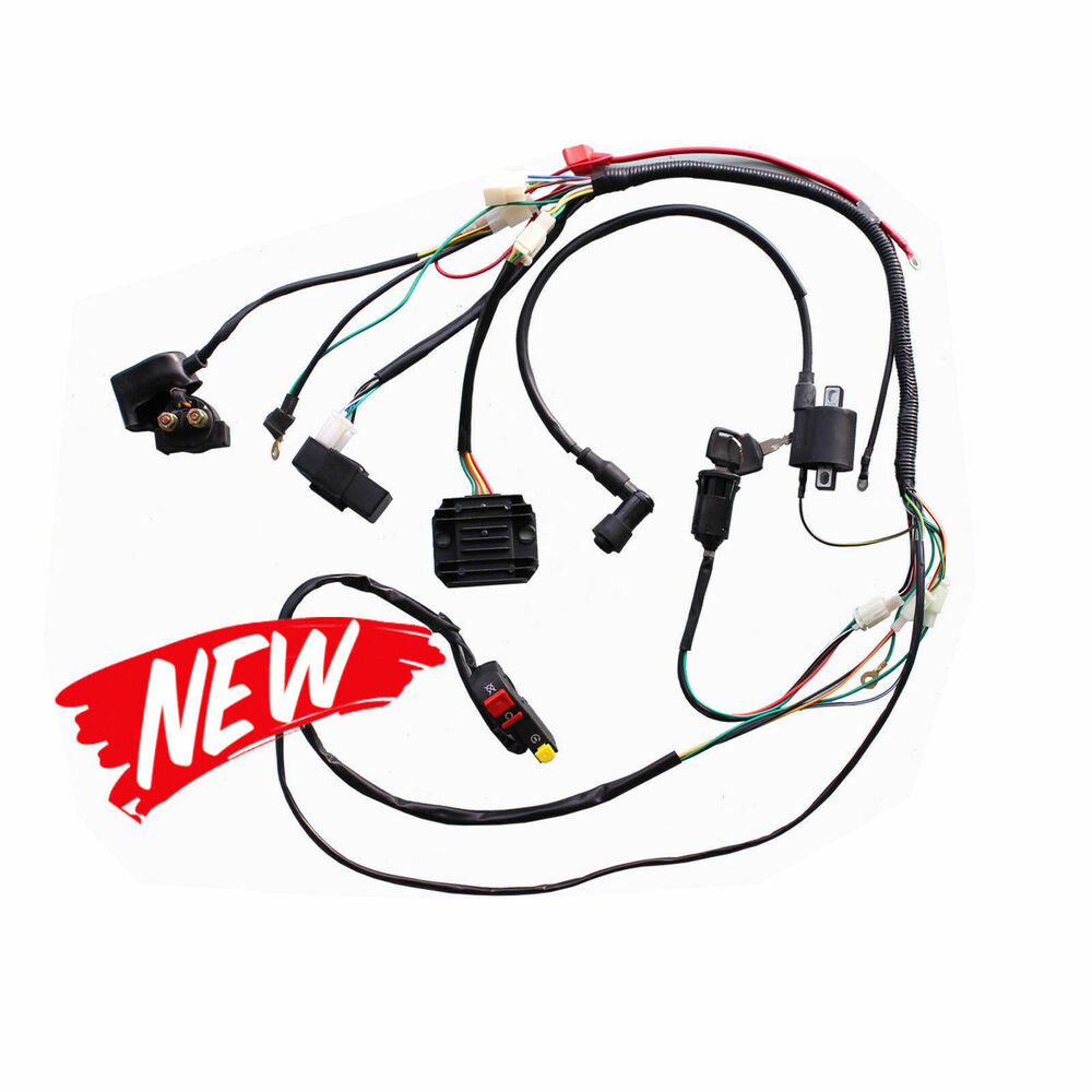 hight resolution of details about full wiring harness for 250cc 200cc zongshen pit bike hummer atomik ducar lifan