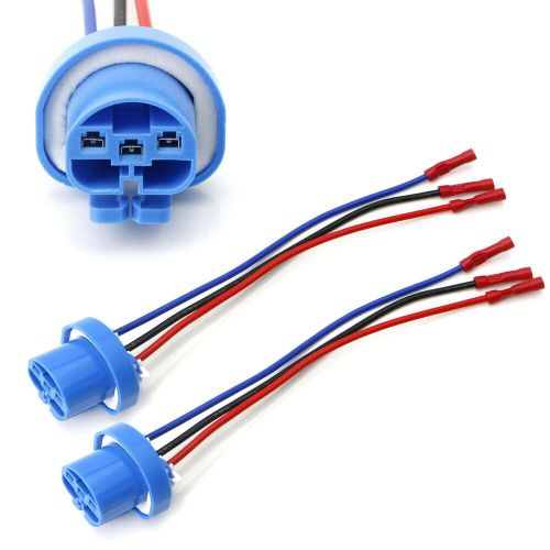 small resolution of details about 9004 9007 hb5 3 wire headlight plug adapter pigtails w painless butt connectors