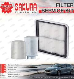 details about sakura oil air fuel filter service kit for subaru forester s4 sh9 2010 on [ 1000 x 1000 Pixel ]