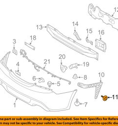 details about hyundai oem 11 18 elantra rear bumper side bracket screw 1244206207b [ 1000 x 798 Pixel ]