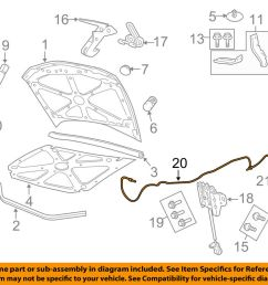 details about pontiac gm oem 08 09 g8 hood release cable 92206018 [ 1000 x 798 Pixel ]