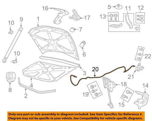 small resolution of details about pontiac gm oem 08 09 g8 hood release cable 92206018
