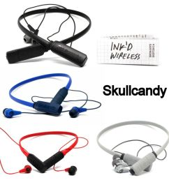 details about skullcandy ink d wireless bluetooth earphones with mic white red black blue new [ 1000 x 1000 Pixel ]