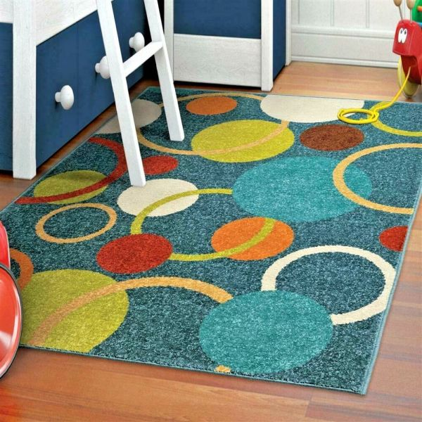 Rugs Area Kids Indoor Outdoor Carpet Washable Patio 5x7 Modern