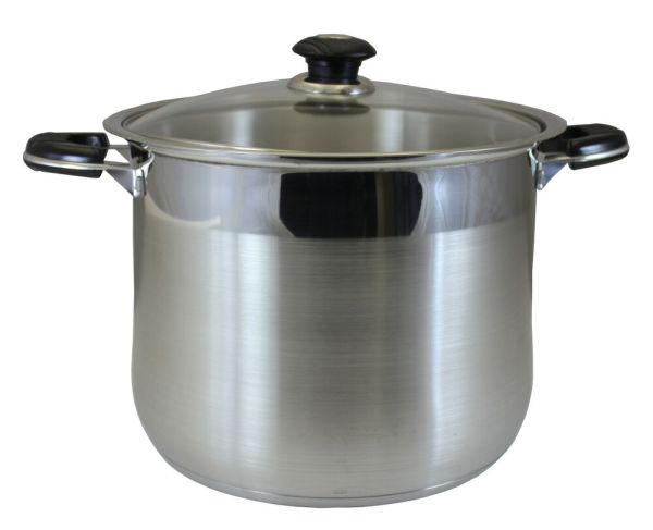 Concord 10 Qt Stainless Steel Stock Pot. Heavy Stockpot