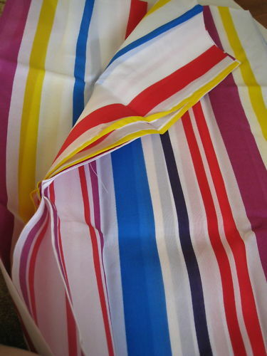 BRIGHT STRIPES WHITE BLUE RED FABRIC SHOWER CURTAIN NEW  eBay