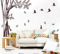 """Wall Decor Decal Sticker Removable large tree trunk 65"""" 