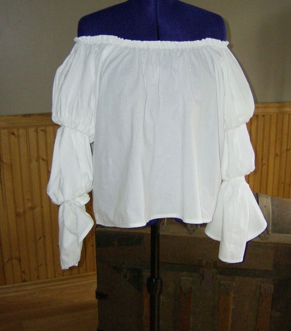 Pirate Wench Gypsy Renaissance Blouse Chemise Costume
