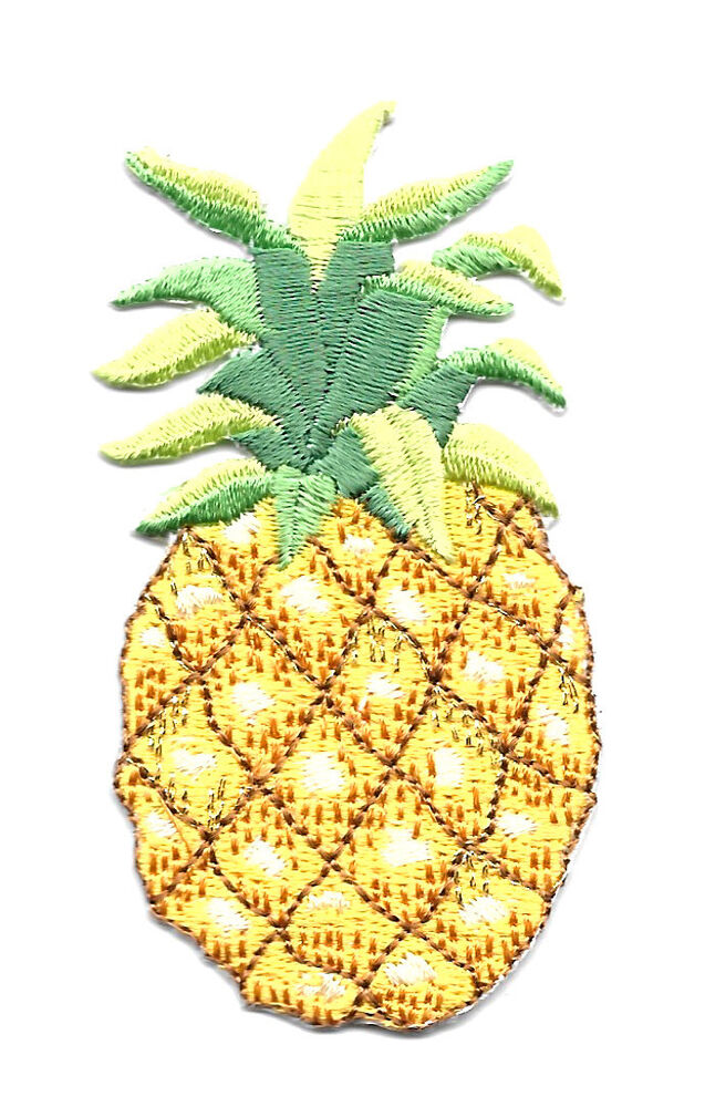 Pineapple Fruit Tropical Embroidered Iron On