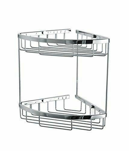 Corner Wire Shower Caddy Shelf Basket Rack Soap Shampoo