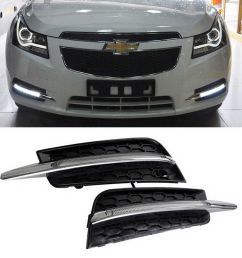 details about switchback led daytime running lights turn signal bezels for 2011 14 chevy cruze [ 1000 x 1000 Pixel ]