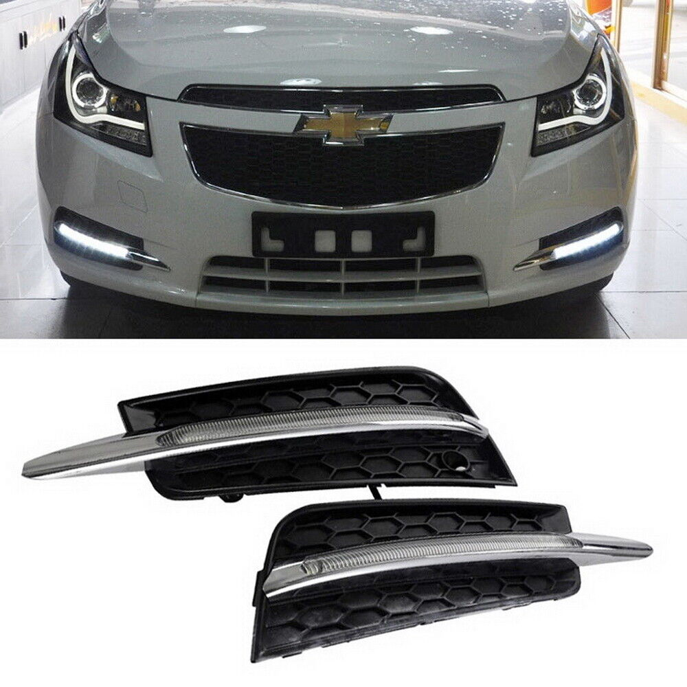 hight resolution of details about switchback led daytime running lights turn signal bezels for 2011 14 chevy cruze